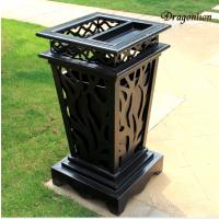 项目合作小区绿化铸铝垃圾箱、户外垃圾桶、桌椅、花园庭院、户外家具、永不生绣