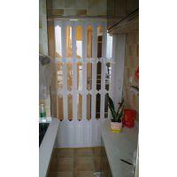 西安商铺车间家装隔断PVC折叠门水晶折叠门