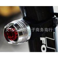 款自行车灯 山地车警示灯  铝合金安全头盔灯 尾灯 铝硅胶灯