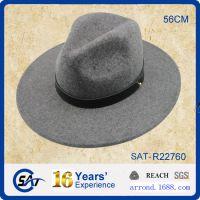 混批现货 工厂供应来样来图出口定做纯羊毛呢毡男女士礼帽子