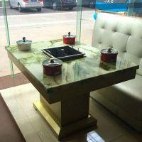 简约餐厅火锅桌定做 柜式隐形火锅桌 灶头火锅台 蓉城老妈火锅桌