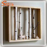 仿真白桦树 仿真白桦艺术树摆设 家具装饰树 厂家直销白色装饰树