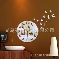 蝴蝶钟 婚房布置装饰 镜面墙贴挂钟JM-Z051