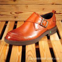 新款男鞋 春秋款真皮鞋 英伦外贸休闲鞋 软底舒适透气 韩版懒人鞋