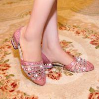 批发14夏季新款欧美真皮女鞋 低跟爆裂纹羊皮女士凉鞋 套脚低帮鞋