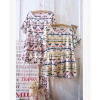 06577日单 森林系创意几何图形 薄款纯棉夏季新款短袖森女连衣裙