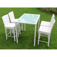度帆庭院花园吧台吧椅 休闲酒吧咖啡厅高脚椅 藤椅茶几三五件套竹藤手工制作