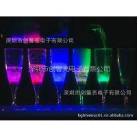 供应LV-10FG-01【创馨亮】入水发光杯 高脚杯 ps 塑料香槟杯