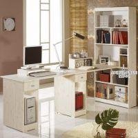 梦雅园家具简约田园书柜组合简易 双人 现代办公桌电脑桌办公台