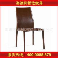厂家特价直销 皮制软包酒店 酒楼 中餐厅现代铁艺餐椅 款式新颖