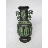 福寿瓶 影视道具 仿古青铜器 工艺品摆件 双龙瓶 厂家直销礼品