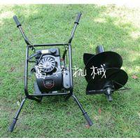 手提式汽油挖坑机 优质小型挖坑机 富兴牌大功率地钻打孔机