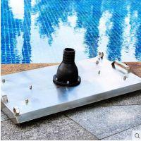 厦门泳池人工吸污设备,不锈钢吸污盘,手拉式吸尘器 ;福建Jwen游泳池设备厂家