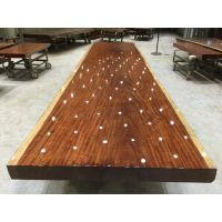 家有名木供应非洲巴西花梨大板非洲花梨简约餐桌原木办公家具老板桌班台实木大板茶桌书桌会议桌