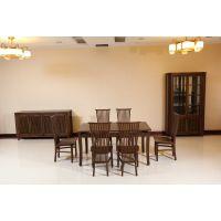 港龙红木 鸡翅木餐桌 红木餐厅系列 餐桌椅组合一桌六椅 简约现代 厂家直销
