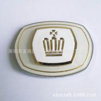 深圳厂家标牌制作 亚克力镶金属边标牌 箱包家具商标牌