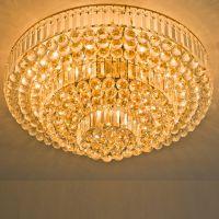 热销蛋糕黄水晶灯 三层圆形水晶灯 LED七彩吸顶灯H8008/800