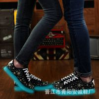新款春季潮流荧光发光男鞋运动休闲情侣夜光板鞋韩版女鞋子