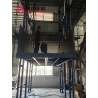 两层室内导轨式液压升降平台仓库货物提升机昌平厂家直销