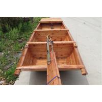 中式手划船仿旧小木船江苏小渔船公园小区保洁船