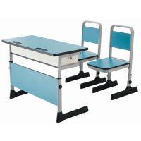 格友家具供应广东高档升降课桌椅、钢木双人学生课桌椅厂家