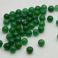 批发供应高仿石英岩绿色10毫米散珠 南阳玉石挂件加工厂66005192