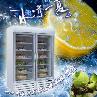 青岛宏祥佛斯科 SD930 立式冷冻展示柜 双门直冷低温展示柜