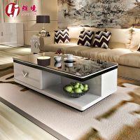 茶几简约现代电视柜组合客厅家具黑白烤漆钢化玻璃创意新品特价