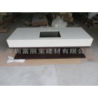 深圳石英石厂家供应白色花纹石英石洗手台定制