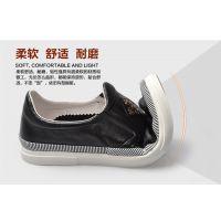 鑫三江2016春季新款真皮系带透气板鞋时尚英伦布洛克男鞋 一件代发