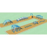 青少年百米障碍赛赛道 地面拓展训练器材设施定制