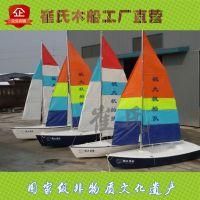 欧式帆船景区装饰帆船水上装饰帆船景观船木制装饰船工厂直销