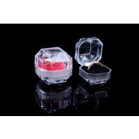 水晶戒指盒 大尺寸透明八角亚克力饰品盒 创意首饰盒 耳钉礼品盒