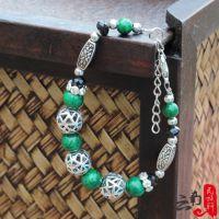 民族特色藏式镂空藏银手链、绿松石手链首饰时尚民族风女式送朋友