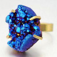 欧美外贸eBay 速卖通 绚彩 水晶晶牙戒指 水晶戒指 幽灵
