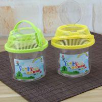 立信 L289 迷你圆形宠物屋热带鱼斗鱼塑料鱼缸小型鱼缸封闭式龟缸迷你鱼缸