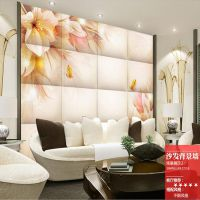 酒店墙面壁画软包 餐厅现代中式艺术布艺硬包 卧室皮革立体墙画定做魔方