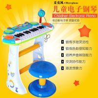 灿辉BB335-1儿童益智多功能音乐电子琴带麦克风儿童科教玩具工厂