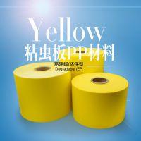 供应黄色塑料粘虫板现货诱虫板卷材批发环保pp材料易降解
