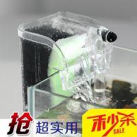 迷你小鱼缸乌龟缸水族箱瀑布过滤器 外挂式鱼缸过滤器 小型净水器