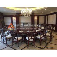 现代中式酒店宴会餐桌高档圆形餐桌智能电动圆餐桌CZ-001华艺顺鑫
