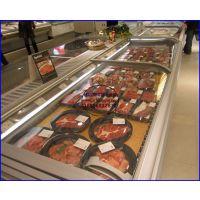 进口牛肉低温储存展示柜 平移玻璃门直冷岛柜2.1米 巢湖冷冻肉制品保鲜柜