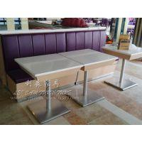 方形餐桌 咖啡馆桌椅 大理石茶餐厅桌子 酒店餐厅石材桌子