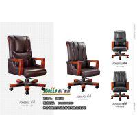 总裁椅 潍坊职员员工办公椅子 高档实木老板椅 真皮大班椅