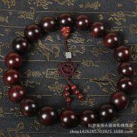 红酸枝 25mm佛珠车饰挂件念珠老红木老挝大红酸枝手串厂家直销批