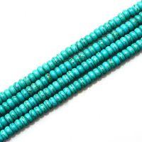 聚旺水晶 天然绿松石半成品 手工配件diy  算盘珠隔片 佛珠饰品