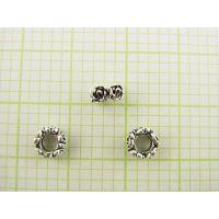 DIY泰银椭圆珠配件加工生产批发 珠宝首饰来图来样加工定制工厂