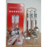 供应【顺展】韩式陶瓷柄厨具,陶瓷厨具七件套产品组合