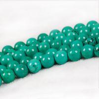万汇 绿松石半成品散珠绿色水晶圆珠散粒DIY饰品配件材料手工串珠