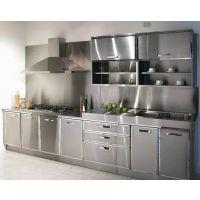 供应十堰家居不锈钢厨柜_304不锈钢整体橱柜_高档不锈钢柜子生产厂家